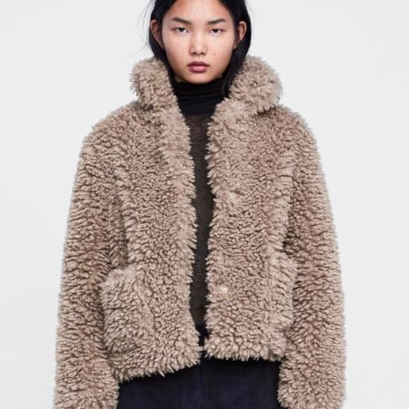 Zara faux fur-brown